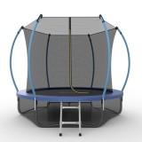 EVO JUMP Internal 8ft (Blue) + Lower net. Батут с внутренней сеткой и лестницей, диаметр 8ft (синий) + нижняя сеть