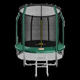 ARLAND Батут премиум 8FT с внутренней страховочной сеткой и лестницей (Dark green)