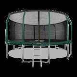 ARLAND Батут премиум 16FT с внутренней страховочной сеткой и лестницей (Dark green) (ТЕМНО-ЗЕЛЕНЫЙ)