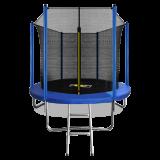 ARLAND Батут  8FT с внутренней страховочной сеткой и лестницей (СИНИЙ)