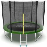 EVO JUMP External 10ft (Green) Батут с внешней сеткой и лестницей, диаметр 10ft (зеленый)