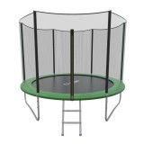 EVO JUMP External 8ft (Green) Батут СКЛАДНОЙ с внешней сеткой и лестницей, диаметр 8ft (зеленый)