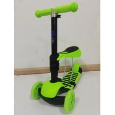 Самокат EVO Kids M-2 (3 в 1) зеленый