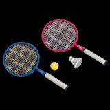 KRAFLA Fun 200 Набор для бадминтона: ракетка (2 шт), волан, поролоновый мяч
