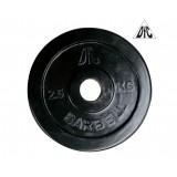 Диск обрезиненный DFC, чёрный, резин.втулка, 31мм, 2,5кг