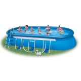 Овальный бассейн Oval Frame Pool 610х366х122 см
